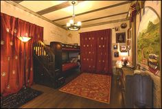 Harry Potter themed bedroom hopefully for my child when they understand how cool potter world is
