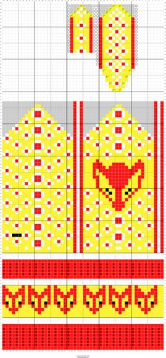 Stitch Fiddle is an online crochet, knitting and cross stitch pattern maker. Stitch Fiddle is an online crochet, knitting and cross stitch pattern maker. Knitted Mittens Pattern, Knitting Socks, Crochet Pattern, Knitting Charts, Knitting Stitches, Knitting Patterns, Cross Stitch Pattern Maker, Cross Stitch Patterns, Bears