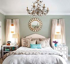 No-Fail Bedroom Arranging Trick  Select the Right Size Bed It's possible to use a larger bed if you don't need a lot of storage furniture. Also, consider the visual weight of your headboard. If the bed is slightly large for the room, opt for a visually lighter headboard, such as one that features metal scrollwork. A solid headboard consumes more visual space, and taller, heavier headboards work best in bigger bedrooms or bedrooms with tall ceilings.