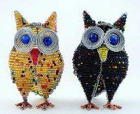 mini beaded owl - mini beaded animals