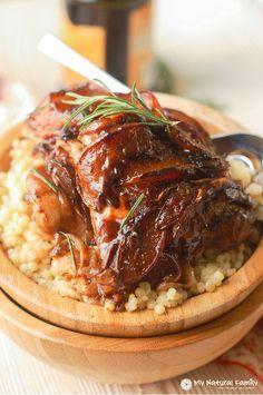 PEACH BALSAMIC ROSEMARY CHICKEN *Large sauté pan http://www.mynaturalfamily.com/recipes/paleo-recipes/paleo-chicken-recipe-peach-balsamic-rosemary-chicken-recipe/