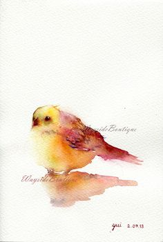 Little Bird ORIGINAL watercolor painting by WaysideBoutique