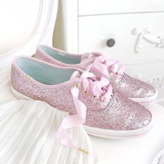 Pink Kate Spade Glitter Keds (@catherine.mw)