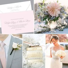 Kleinfeld Paper    Side By Side wedding invitation design with alterations to create a romantic blush & grey look    shop this design: http://www.kleinfeldpaper.com/shop/Wedding-Invitations-Side-By-Side-P647_1_100_A33_S01_P01