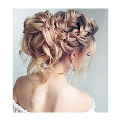 Beautiful Wedding hair bun ❤ liked on Polyvore featuring beauty products, haircare, hair styling tools, hair, blonde, hair styles and hairstyle
