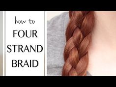 Be on-trend with a 4 strand braid! Get some inspiration from top hair stylists and learn how to master a flat, waterfall, Dutch four strand braid, and gorgeous updos. Braided Hairstyles Tutorials, Loose Hairstyles, Braid Hairstyles, Everyday Hairstyles, Hairstyle Ideas, Braid Tutorials, Bangs Hairstyle, Bridal Hairstyle, Braid Styles