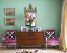 I'm really liking this combination of purply-pink and mint. by Jill Sorensen.