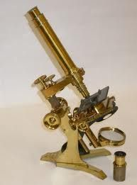 Vintage microscope.  Painting one of these is on my TDL!