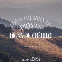 """""""Toda palabra de Dios es digna de crédito; Dios protege a los que en él buscan refugio."""" #Proverbios 30:5 #Biblia #Versiculo #Palabra  #Jesucristo #Evangelio #Cristo #Fe #LoucosPorJesus #Dios #Amén #PalabraDeDios #Gospel #Señor #Jesus #Oración Palabra #OneWayJesus #Misericordia #Juntos #KeepFaith #ExploraDios"""