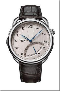 Hermes Arceau Le Temps Suspendu Steel Watch @ http://baglissimo.weebly.com/