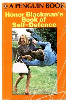 The Avengers actress Honor Blackman and her Book of self defence.