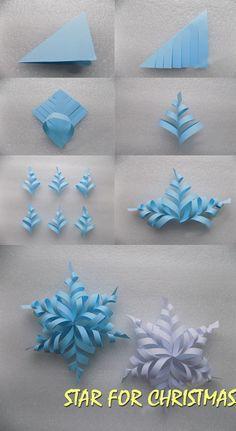 Star for Christmas – Origami Bastelanleitungen – Weihnachten Paper Crafts Origami, Diy Paper, Paper Crafting, Origami Art, Origami Bookmark, Origami Flowers, Paper Quilling, Paper Flowers Craft, Oragami