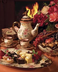 Tea & Cakes by the Fire ....                              …