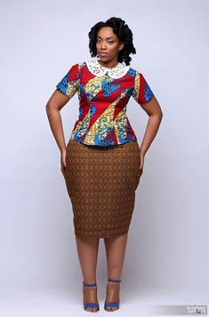 Collection of the most beautiful and stylish ankara peplum tops of 2018 every lady must have. See these latest stylish ankara peplum tops that'll make you stun African American Fashion, African Fashion Ankara, Ghanaian Fashion, Latest African Fashion Dresses, African Print Fashion, Africa Fashion, African Prints, African Attire, African Wear