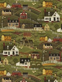 Folk Art Village by Windham Fabrics