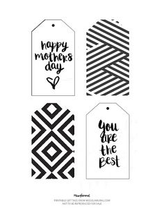 FREE PRINTABLE MOTHER´S DAY GIFT TAGS | MISSGLAMURAL Mother Day Gifts, Gift Tags, Free Printables, Cards, Friends Day, Mom Presents, Floral Bouquets, Free Printable, Maps