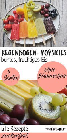 buntes, fruchtiges Wassereis ohne Zusatzstoffe. Eis ohne Zucker und ohne Eismaschine einfach selber machen. alle Rezepte!