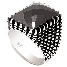 Taşlı Gümüş Yüzük - Tırnaklı ve oniks taşlı 925 ayar taşlı gümüş erkek yüzük. Oksit karatmalıdır. Gümüş yüzük siparişlerinde ölçü seçmeyi unutmayınız. / http://www.yuzuksitesi.com/tasli-gumus-yuzuk-10097