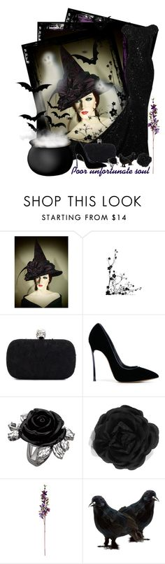 """""""Black witch"""" by amethyst0818 ❤ liked on Polyvore featuring Elie Saab, Alexander McQueen, Casadei, Accessorize, halloweencostume and Halloween2015"""