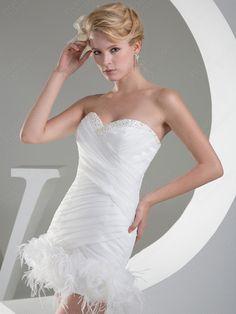 Mini Feathers  Wedding Dresses