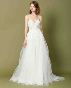 Christos Fall 2017 Wedding Dress Collection | Martha Stewart Weddings – Sleeveless ball gown wedding dress