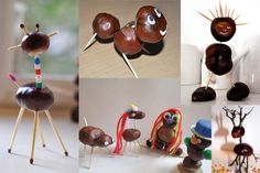 animaux d'automne - chataigne - marron - activité créative enfant
