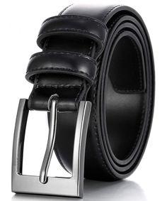 Shop for Men Genuine Leather Dress Belt with Single Prong Buckle - Black - Discover the newest styles Men's Belts up to off. Best Leather Belt, Leather Jeans, Black Leather Dresses, Black Belt, Casual Belt, Branded Belts, Belted Dress, Black And Brown, Clothing