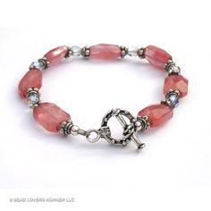 SOLD - Cherry Quartz Bracelet by beadloverskorner on Etsy, $32.00