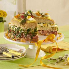 Atypický dort z chleba