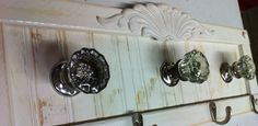 Antique door knob coat rack towel or even by countrycraftsbydebbi