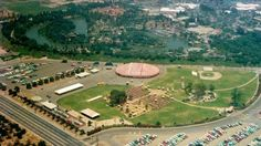 ...in 1957 there was a 9-acre grassy picnic ground called Holidayland near the area of current New Orleans Square. The land could house 7,000 guests for large events and contained playgrounds, horseshoes, baseball field, volleyball, a striped circus tent, concessions for food and beer and a separate entrance to Disneyland.