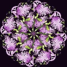 Lilacs Kaleidoscope Quilt Kit | Jelly Rolls 2 Go