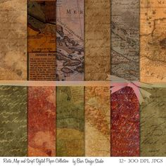 Rustic map Digital backgrounds for creating Thanksgiving paper projects. Create placemats, napkin rings, paper leaves, planner stickers, Thanksgiving layouts and more with these maps in  harvest colors. Download once and use over and over again.