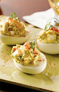 Lobster-Stuffed Deviled Eggs