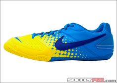 Nike Elastico Indoor Soccer Shoes - Blue Glow with Yellow...$49.49
