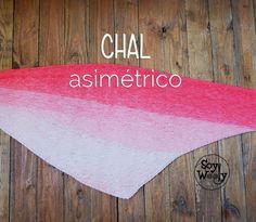 Patrón de chal asimétrico-triangular-pero-ancho, vas a enamorarte… #soywoolly #tejidos #patrones #punto #dosagujas #tutorial