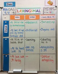 - Dansk i 3. klasse ... Synlige læringsmål og overblik....