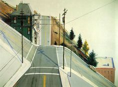 Wayne Thiebaud — Portrait of the Artist | 24th Street Intersection, 1977 | #Thiebaud #art JournaltoHealth.com