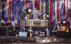 Fantasy Friday ~ A New Orleans Vibe Styled Shoot Rockin' Voodoo Elements, Fabulous Décor & StunningGowns