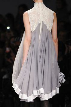Like the lace and flowing fabric.