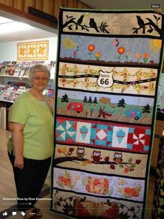 Arkansas Row! Quilting Projects, Quilting Designs, Row By Row Experience, Arkansas, The Row, Quilts, Sewing, Frame, Ideas
