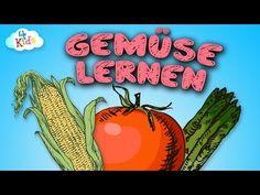 Gemüse Lernvideo für Kinder und Kleinkinder. Lebensmittel - Gemüsesorten lernen (deutsch) - YouTube