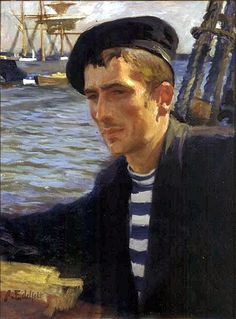 Albert Edelfelt (Finnish, 1854-1905), Uusmaalainen Sailor, 1896. Oil on canvas. Emil Aaltosen Museum, Pyynikinlinna, Finland.