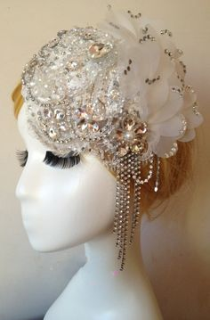 LACE Wedding Fascinator Bridal Fascinator bridal by Sbiroliabridal, $38.00