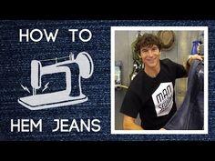 Man Sewing - How to Hem Pants