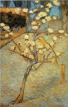 Pear Tree in Blossom 1888. Vincent van Gogh