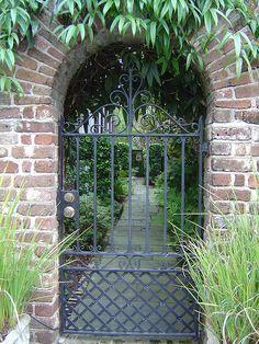 garden gate in Charleston, SC......my fave city