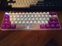 Vortex POM/PBT Purples - self-dyed