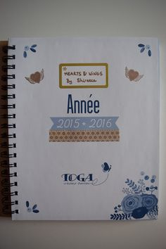 Customisation agenda DIY planner Hearts & Wings by Shireece: DIY customisation de mon agenda