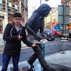 @davidbakey with the one and only Rory Gallagher in Ireland. 2 my favorite guitarists right there ;) #rorygallagher